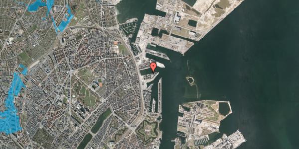 Oversvømmelsesrisiko fra vandløb på Marmorvej 37, 1. th, 2100 København Ø