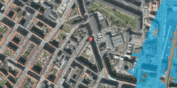 Oversvømmelsesrisiko fra vandløb på Frederiksborgvej 23, 1. 2, 2400 København NV