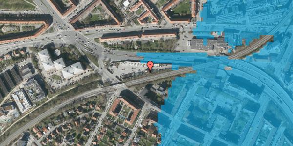 Oversvømmelsesrisiko fra vandløb på Borups Alle 158, 2000 Frederiksberg