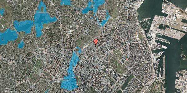 Oversvømmelsesrisiko fra vandløb på Emblasgade 107, 1. th, 2100 København Ø