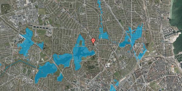 Oversvømmelsesrisiko fra vandløb på Grønnemose Allé 13B, 2400 København NV