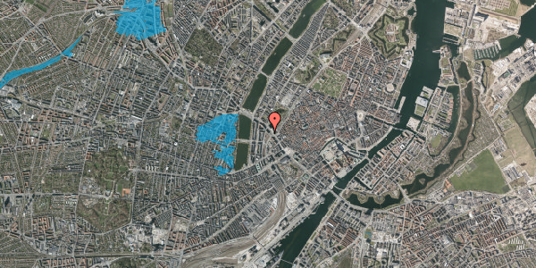 Oversvømmelsesrisiko fra vandløb på Staunings Plads 3, 1607 København V