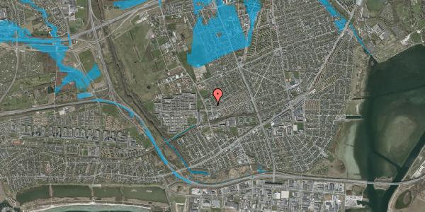 Oversvømmelsesrisiko fra vandløb på Mellemvangsvej 54, 2650 Hvidovre