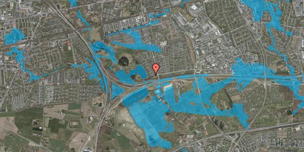 Oversvømmelsesrisiko fra vandløb på Rendsagervej 9B, 2625 Vallensbæk