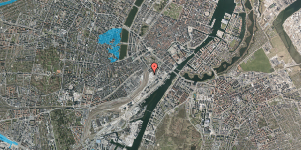 Oversvømmelsesrisiko fra vandløb på Bernstorffsgade 36, 1577 København V