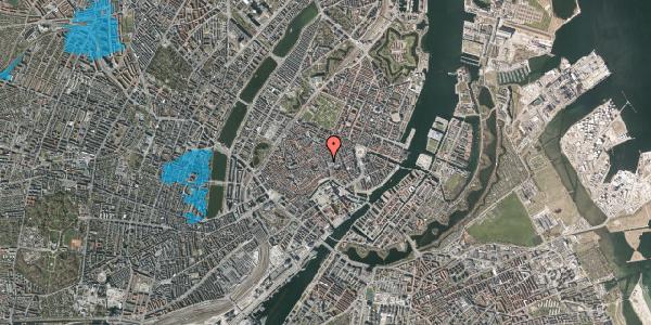 Oversvømmelsesrisiko fra vandløb på Købmagergade 9, 1. , 1150 København K