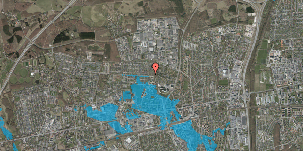 Oversvømmelsesrisiko fra vandløb på Haveforeningen Hersted 45, 2600 Glostrup