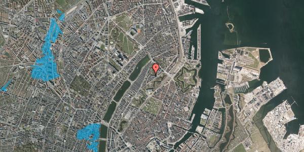Oversvømmelsesrisiko fra vandløb på Upsalagade 20A, 1. tv, 2100 København Ø