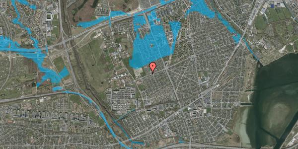 Oversvømmelsesrisiko fra vandløb på Hf. Dahlia 111, 2650 Hvidovre