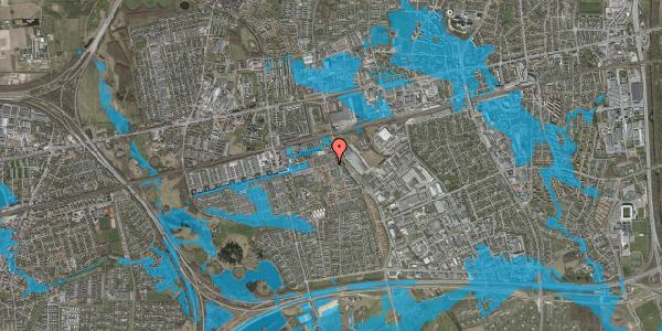 Oversvømmelsesrisiko fra vandløb på Bjergkløvervænget 19, 2625 Vallensbæk