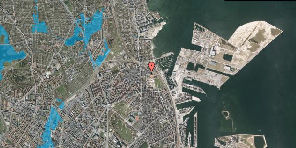 Oversvømmelsesrisiko fra vandløb på Carl Nielsens Allé 33, 2100 København Ø
