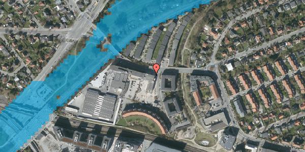 Oversvømmelsesrisiko fra vandløb på C.F. Richs Vej 103, 1. , 2000 Frederiksberg