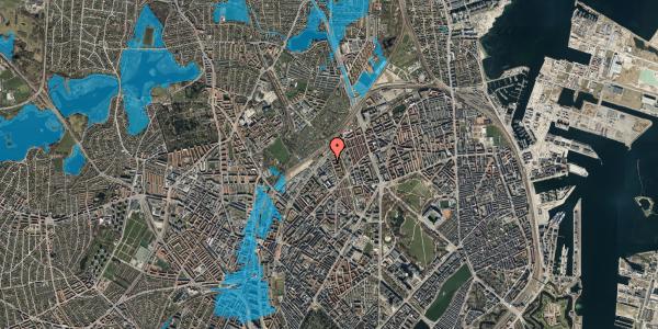 Oversvømmelsesrisiko fra vandløb på Emblasgade 45, st. , 2100 København Ø