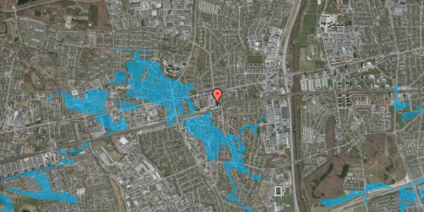 Oversvømmelsesrisiko fra vandløb på Glostrup Shoppingcenter 94, 2600 Glostrup