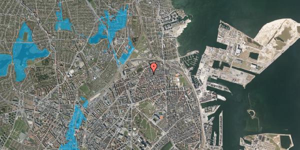 Oversvømmelsesrisiko fra vandløb på Landskronagade 56A, st. , 2100 København Ø
