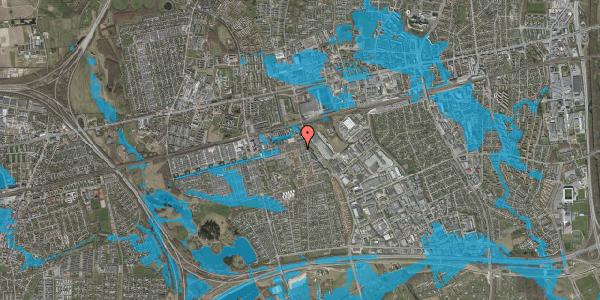 Oversvømmelsesrisiko fra vandløb på Bjergkløvervænget 25, 2625 Vallensbæk