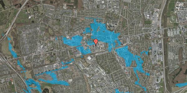 Oversvømmelsesrisiko fra vandløb på Odinsvej 11, st. , 2600 Glostrup