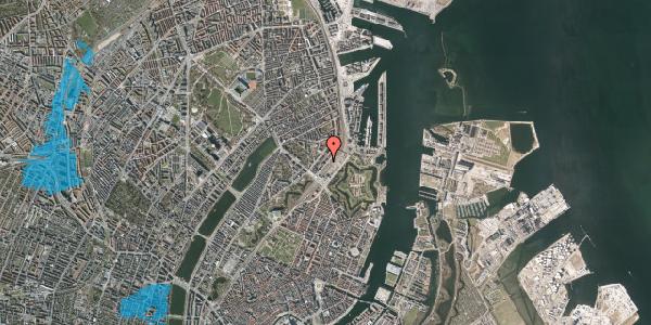 Oversvømmelsesrisiko fra vandløb på Trondhjems Plads 8, 2100 København Ø