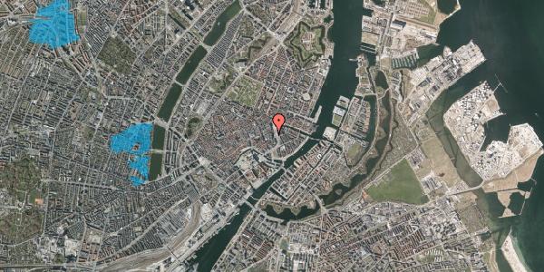 Oversvømmelsesrisiko fra vandløb på Kongens Nytorv 13, 4. , 1050 København K