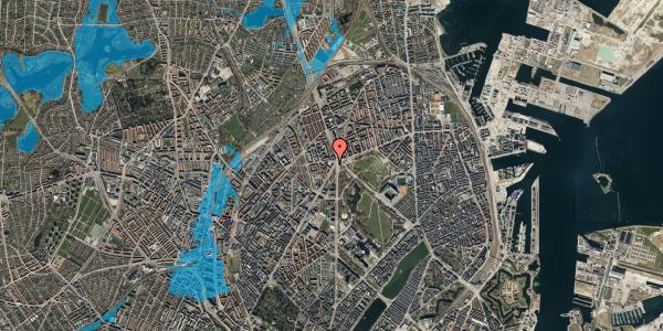 Oversvømmelsesrisiko fra vandløb på Jagtvej 169B, 4. tv, 2100 København Ø
