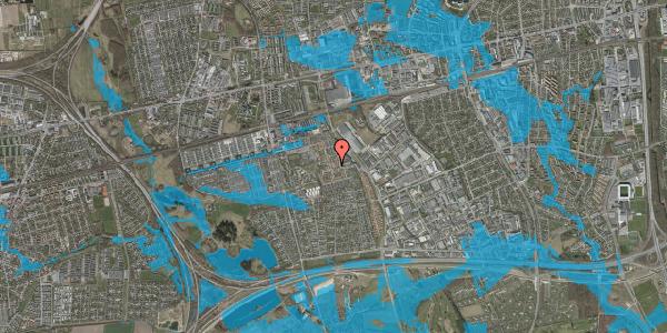 Oversvømmelsesrisiko fra vandløb på Liljeparken 1, 2625 Vallensbæk