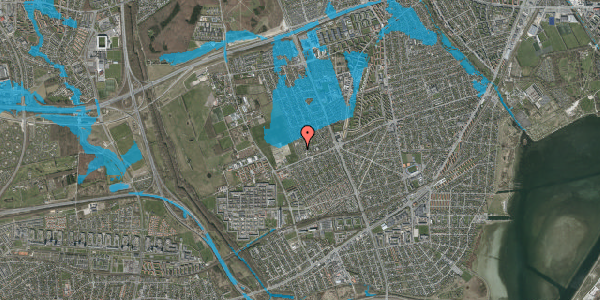 Oversvømmelsesrisiko fra vandløb på Hf. Dahlia 17, 2650 Hvidovre