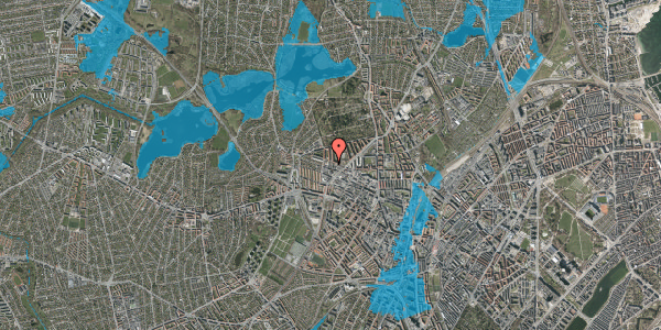 Oversvømmelsesrisiko fra vandløb på Dortheavej 40, 1. 3, 2400 København NV