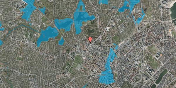 Oversvømmelsesrisiko fra vandløb på Dortheavej 38, 1. 6, 2400 København NV