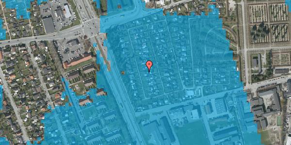 Oversvømmelsesrisiko fra vandløb på Hf. Svarø 24, 2650 Hvidovre