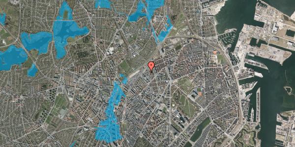 Oversvømmelsesrisiko fra vandløb på Emblasgade 115, 1. tv, 2100 København Ø