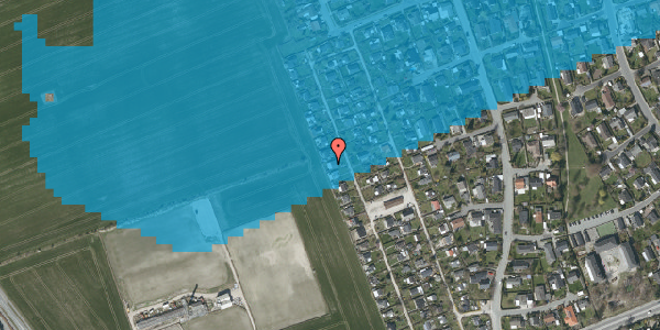 Oversvømmelsesrisiko fra vandløb på Hf. Dahlia 74, 2650 Hvidovre