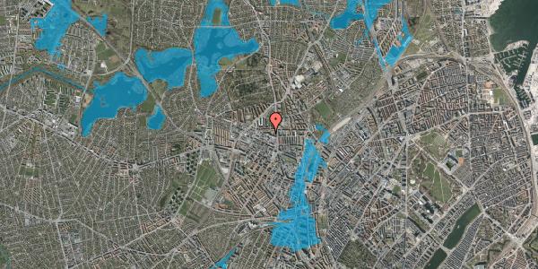 Oversvømmelsesrisiko fra vandløb på Dortheavej 2C, 2. th, 2400 København NV