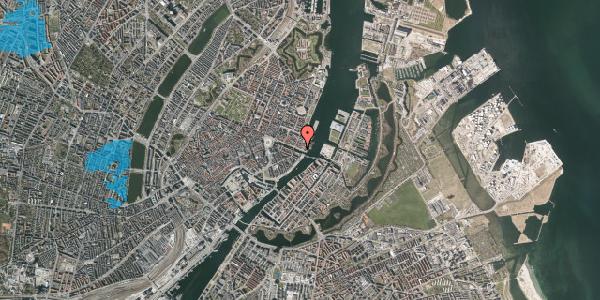 Oversvømmelsesrisiko fra vandløb på Nyhavn 65A, 1051 København K