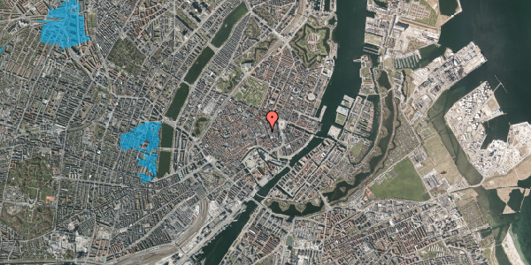 Oversvømmelsesrisiko fra vandløb på Østergade 36, 1. , 1100 København K