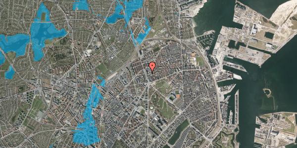 Oversvømmelsesrisiko fra vandløb på Lyngbyvej 24, st. , 2100 København Ø