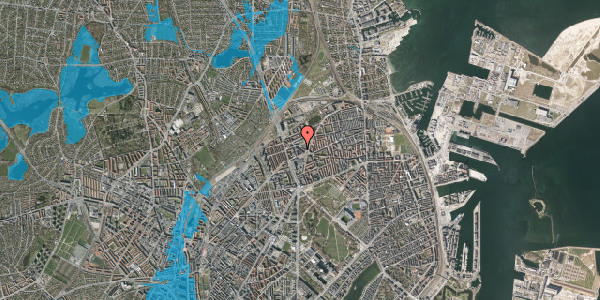Oversvømmelsesrisiko fra vandløb på Æbeløgade 5, 2100 København Ø