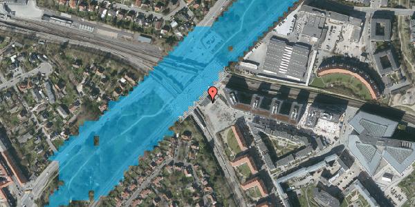 Oversvømmelsesrisiko fra vandløb på Stig Lommers Plads 1, 2000 Frederiksberg