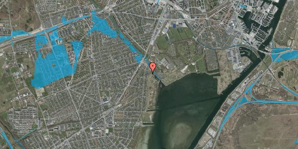 Oversvømmelsesrisiko fra vandløb på Nordre Kystagervej 7, 2650 Hvidovre