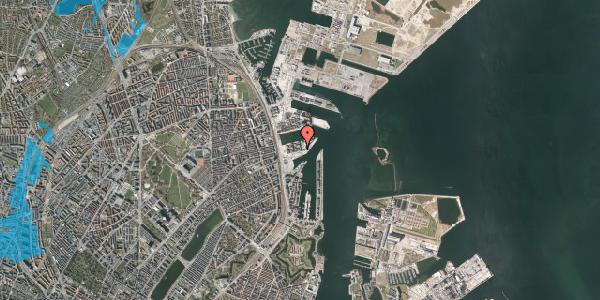 Oversvømmelsesrisiko fra vandløb på Marmorvej 49, 2. th, 2100 København Ø