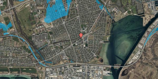 Oversvømmelsesrisiko fra vandløb på Gammel Køge Landevej 376G, 2650 Hvidovre