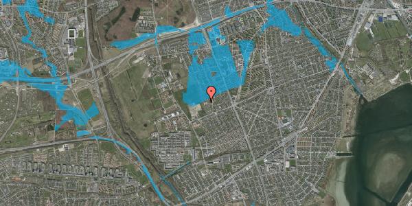 Oversvømmelsesrisiko fra vandløb på Hf. Dahlia 27A, 2650 Hvidovre