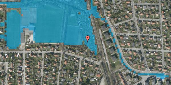 Oversvømmelsesrisiko fra vandløb på Rødhalsgangen 30, 2400 København NV