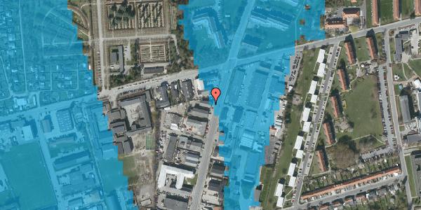 Oversvømmelsesrisiko fra vandløb på Arnold Nielsens Boulevard 62A, 1. , 2650 Hvidovre