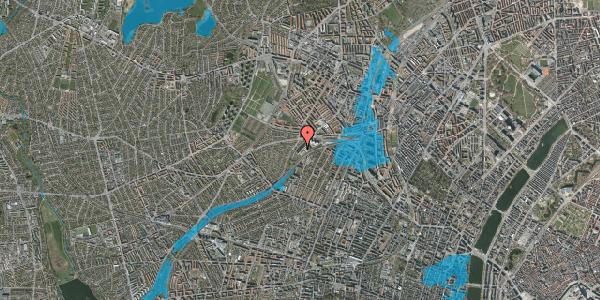 Oversvømmelsesrisiko fra vandløb på Jordbærvej 109, 1. , 2400 København NV