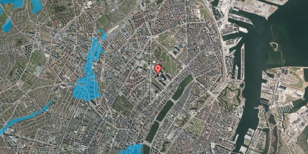 Oversvømmelsesrisiko fra vandløb på Henrik Harpestrengs Vej 2, 1. , 2100 København Ø