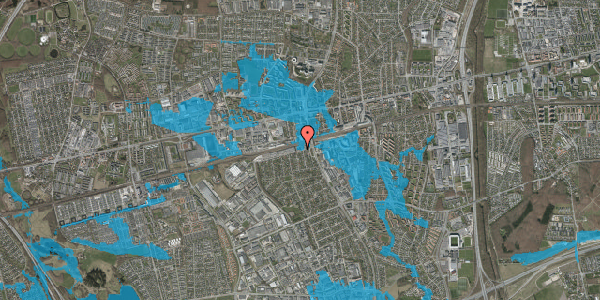 Oversvømmelsesrisiko fra vandløb på Banemarksvej 4, st. , 2600 Glostrup