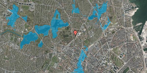 Oversvømmelsesrisiko fra vandløb på Bispeparken 17B, 2400 København NV