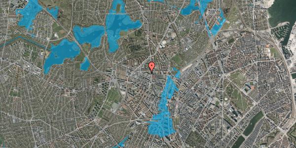 Oversvømmelsesrisiko fra vandløb på Dortheavej 2A, 3. tv, 2400 København NV