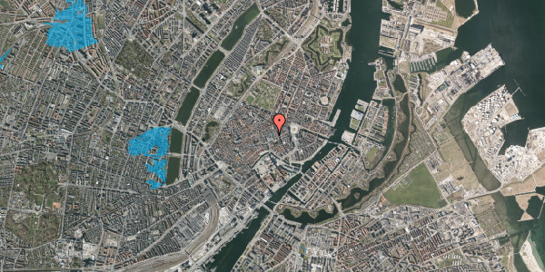 Oversvømmelsesrisiko fra vandløb på Pilestræde 13, kl. , 1112 København K