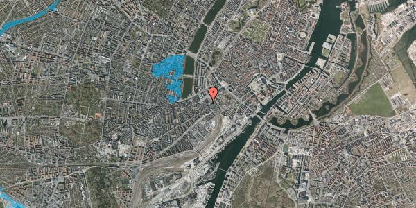 Oversvømmelsesrisiko fra vandløb på Reventlowsgade 1B, 1651 København V